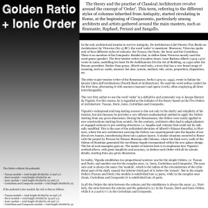 Kultainen leikkaus + Joonialainen pylväs